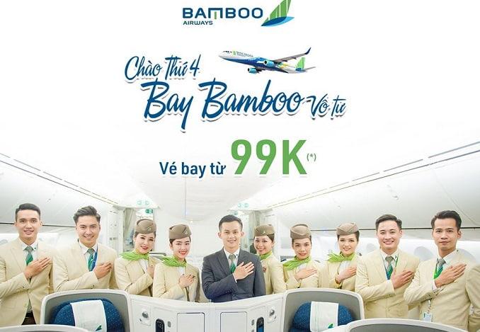 """Thỏa sức bay xa cùng khuyến mãi """"Chào thứ 4, Bay Bamboo vô tư"""""""