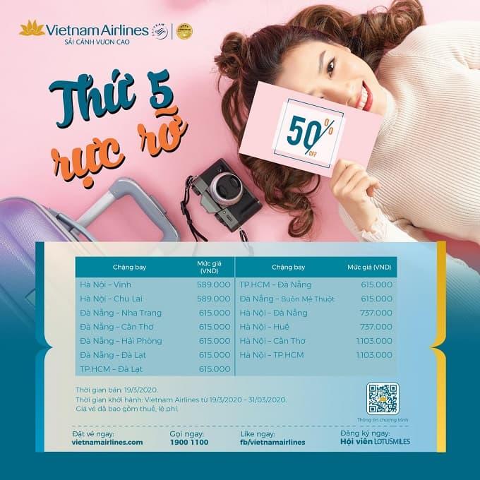"""Đón chờ ưu đãi bất ngờ từ """"Thứ 5 rực rỡ"""" của Vietnam Airlines tuần này!"""