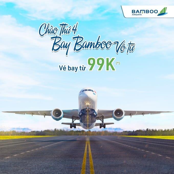 Bamboo Airways tung khuyến mãi MUA VÉ ĐI, TẶNG VÉ VỀ